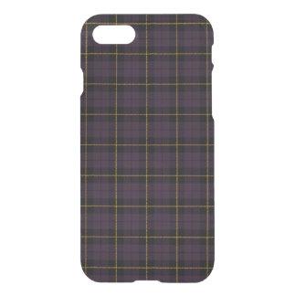 Funda Para iPhone 8/7 Ciruelo púrpura, con la tela escocesa amarilla de