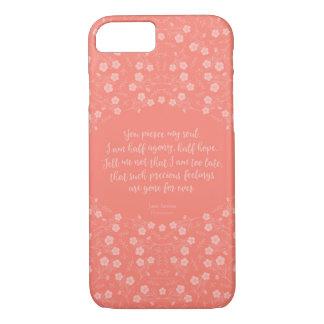 Funda Para iPhone 8/7 Cita floral de la letra de amor de Jane Austen de