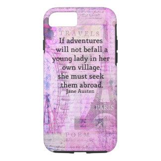 Funda Para iPhone 8/7 Cita linda del viaje de Jane Austen con arte