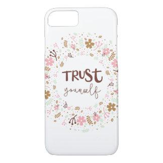 Funda Para iPhone 8/7 Cita que eleva femenina - confianza usted mismo