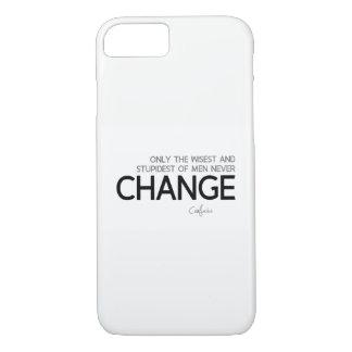 Funda Para iPhone 8/7 CITAS: Confucio: Nunca cambie