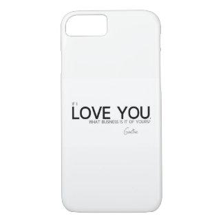 Funda Para iPhone 8/7 CITAS: Goethe: Te amo
