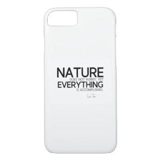 Funda Para iPhone 8/7 CITAS: Lao Tzu: Naturaleza, lograda