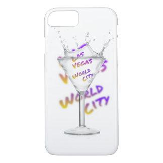 Funda Para iPhone 8/7 Ciudad del mundo de Las Vegas, vidrio de agua