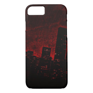 Funda Para iPhone 8/7 Ciudad oscura - rojo - iPhone 7, Barely There