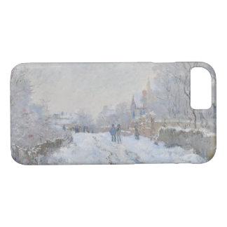 Funda Para iPhone 8/7 Claude Monet - escena de la nieve en Argenteuil