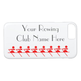 Funda Para iPhone 8/7 Club de remo, icono de Sculling en rojo