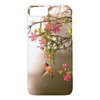Funda Para iPhone 8/7 Colibrí y flores