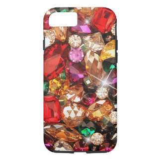 Funda Para iPhone 8/7 Color Jeweled de las gemas de la chispa de las