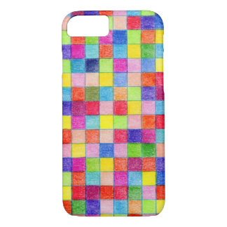 Funda Para iPhone 8/7 Colorido coloreado en cuadrados del papel