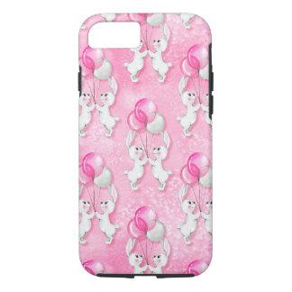 Funda Para iPhone 8/7 Conejito y globos. Rosa