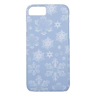 Funda Para iPhone 8/7 Copos de nieve escarchados (nevadas) - blanco azul