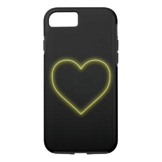 Funda Para iPhone 8/7 Corazón amarillo de neón - tarjetas del día de San