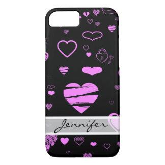 Funda Para iPhone 8/7 Corazón moderno elegante de la orquídea