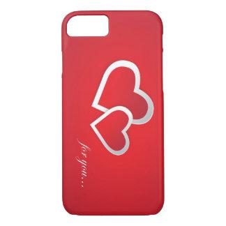 Funda Para iPhone 8/7 Corazones hermosos con el texto para los amantes