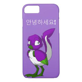 Funda Para iPhone 8/7 Coreano reptil púrpura/del verde/blanco del pájaro
