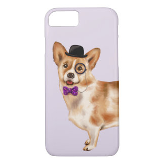 Funda Para iPhone 8/7 Corgi fresco (color de fondo Editable)