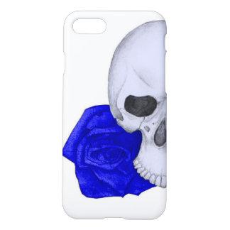 Funda Para iPhone 8/7 Cráneo y rosas azules