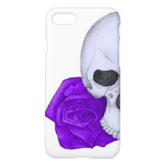 Funda Para iPhone 8/7 Cráneo y rosas púrpuras