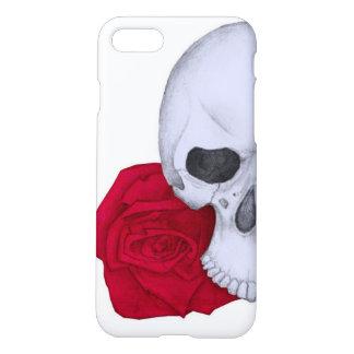 Funda Para iPhone 8/7 Cráneo y rosas rojos