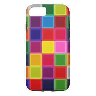 Funda Para iPhone 8/7 Cuadrados coloreados multi Iphone femenino 7, caso