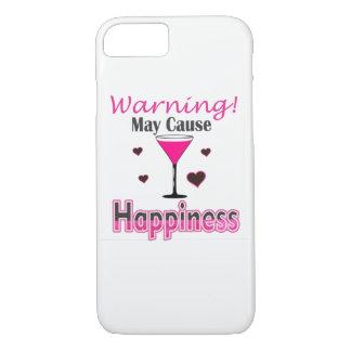 Funda Para iPhone 8/7 Cubierta del consumo de vino de la felicidad