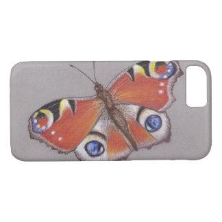 Funda Para iPhone 8/7 Cubierta del iphone 7 de la mariposa de pavo real