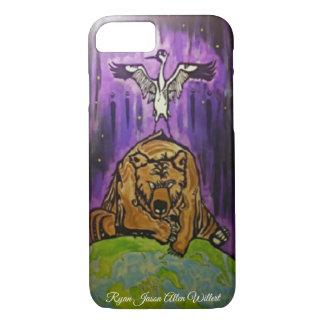 Funda Para iPhone 8/7 Cubierta del teléfono del oso de la grúa