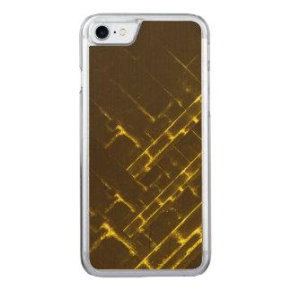Funda Para iPhone 8/7 De Carved Armadura geométrica amarilla rústica del batik de