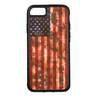Funda Para iPhone 8/7 De Carved Bandera vertical americana oxidada resistida