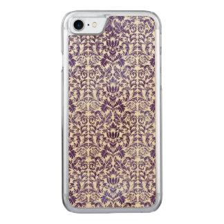 Funda Para iPhone 8/7 De Carved Batik oscuro elegante del damasco de la púrpura
