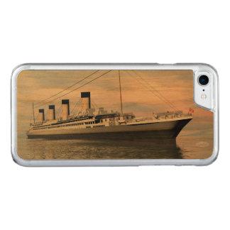Funda Para iPhone 8/7 De Carved boat_titanic_close_water_waves_sunset_pink_standar