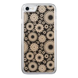 Funda Para iPhone 8/7 De Carved Boho florece el estampado de flores blanco y negro
