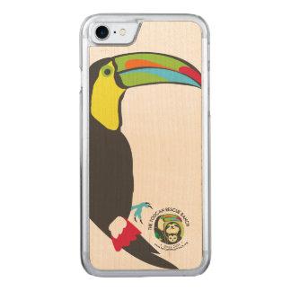Funda Para iPhone 8/7 De Carved Caja de madera del teléfono de Toucan