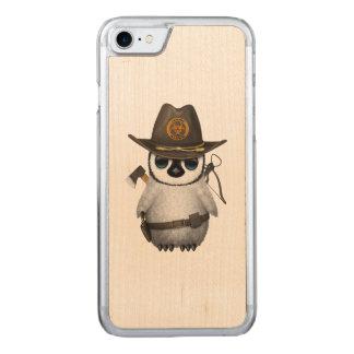 Funda Para iPhone 8/7 De Carved Cazador del zombi del pingüino del bebé