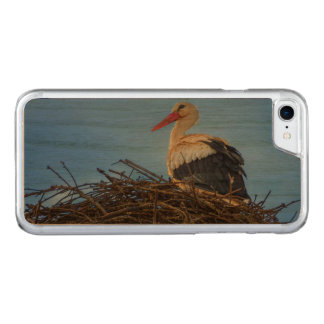 Funda Para iPhone 8/7 De Carved Cigüeña blanca europea, ciconia, en la jerarquía