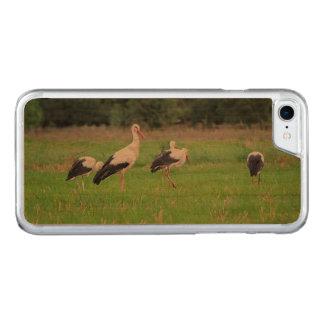 Funda Para iPhone 8/7 De Carved Cigüeñas blancas de la migración, ciconia, en un