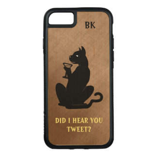 Funda Para iPhone 8/7 De Carved CÓCTEL FRESCO NEGRO del CAT por Slipperywindow