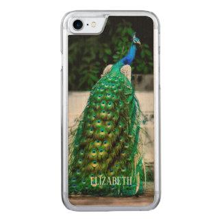 Funda Para iPhone 8/7 De Carved colores hermosos del arte de la pluma del pavo