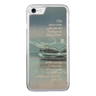 Funda Para iPhone 8/7 De Carved Del agua azul de la vida verso Juan de la biblia