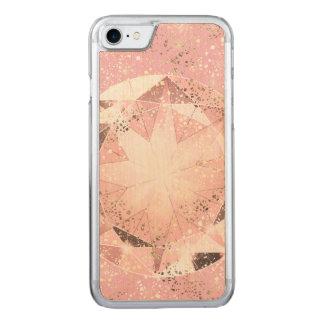 Funda Para iPhone 8/7 De Carved Diamante rosado en pastel ligero con la chispa del