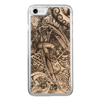 Funda Para iPhone 8/7 De Carved Dibujo detallado complejo de la mano de las