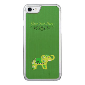 Funda Para iPhone 8/7 De Carved Elefante de la alheña (verde/verde lima)