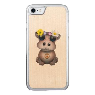 Funda Para iPhone 8/7 De Carved Hippie lindo del hipopótamo del bebé