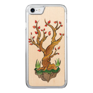 Funda Para iPhone 8/7 De Carved Ilustracion colorido del árbol