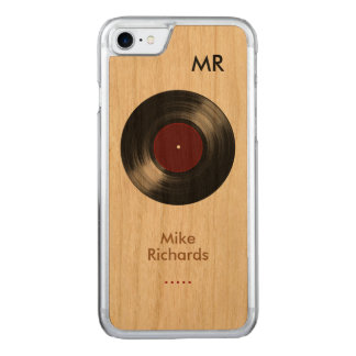 Funda Para iPhone 8/7 De Carved iPhone 6 con el disco de vinilo en la madera