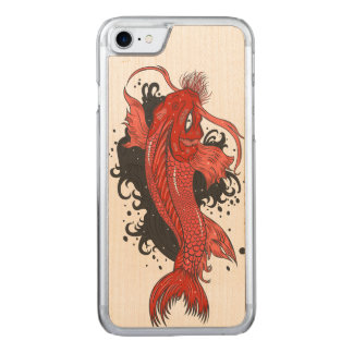 Funda Para iPhone 8/7 De Carved Japonés colorido Koi