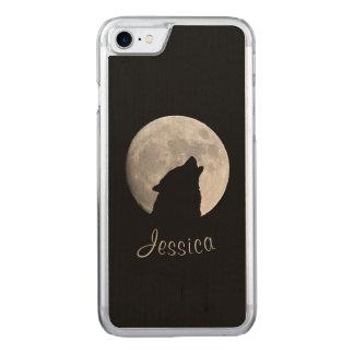 Funda Para iPhone 8/7 De Carved Lobo que grita en la Luna Llena, su nombre