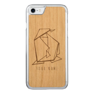 Funda Para iPhone 8/7 De Carved madera del caso del iPhone 7 y pingüino del