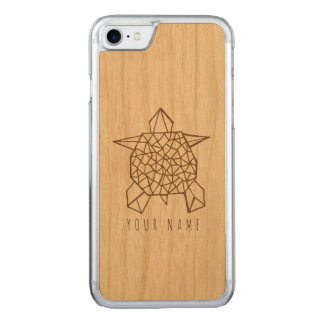 Funda Para iPhone 8/7 De Carved madera del caso del iPhone 7 y tortuga del origami